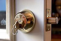 DEADBOLT LOCK<br /> Key In Lock<br /> Hardened steel bolt is fully extended