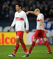 FUSSBALL   1. BUNDESLIGA   SAISON 2011/2012   18. SPIELTAG FC Schalke 04 - VfB Stuttgart            21.01.2012 Maza (VfB Stuttgart) enttaeuscht