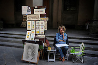 Artisti e artisti di strada a Firenze. Artists and street performers in Florence.