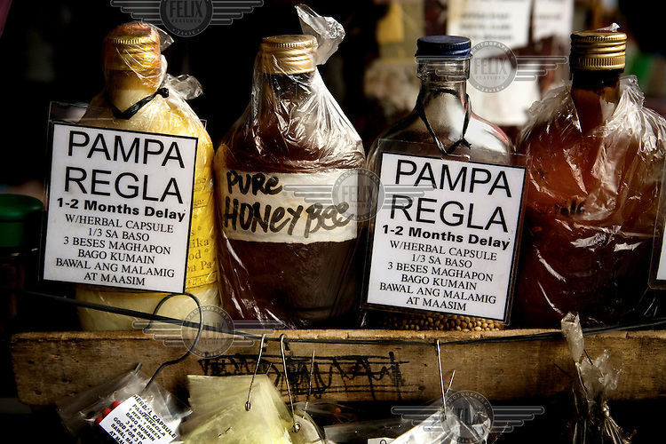Illegal abortion medicine sold through a street vendor..