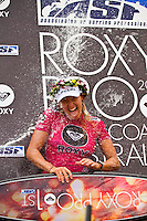 SNAPPER ROCKS, Queensland/Australia (Saturday, March 6, 2010) - Stephanie Gilmore (AUS), 22, reigning three-time ASP Women's World Champion and defending event winner, has taken out the 2010 Roxy Pro Gold Coast in punchy two-to-three foot (1 metre) waves at Snapper Rocks over fellow Finalist Melanie Bartels (HAW), 27...The opening event of the 2010 ASP Women's World Tour season, the Roxy Pro Gold Coast enjoyed an exciting final day of competition, culminating in Gilmore's emphatic win in front of a raucous hometown crowd..In a déjà vu version of last year's event, the Australian and Hawaiian squared off once again in the Final, with Gilmore taking the win and the dream start to her 2010 campaign for a fourth ASP Women's World Title... Today's win marks the 3rd win on the Gold Coast for the young Australian (2005, 2009, 2010), giving the natural-footer the record for most event wins at the Roxy Pro Gold Coast. Coco Ho (HAW), 19, 2009 ASP Women's World Tour Rookie of the Year, put in a solid campaign at the Roxy Pro Gold Coast, before going down to Gilmore in this morning's Semifinals. Posting an Equal 3rd in the opening event of the season, Ho has established herself as a major contender in the hunt for the ASP Women's World Title. Chelsea Hedges (AUS), 26, former ASP Women's World Champion (2005), saw a sensational return to form throughout the course of the Roxy Pro Gold Coast, but fell short against Bartels in today's Semifinals..Photo: joliphotos.com