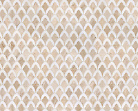 Sophia, a stone waterjet mosaic  shown in Diana Royal and Snow White, is part of the Pera Collection by Sara Baldwin for Marble Systems.
