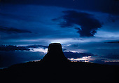 Devil's Tower National Monument, WY at night.
