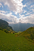 Golzern,  Switzerland, view along the valley.