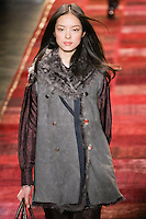 Fei Fei Sun walks runway in an outfit from the Tommy Hilfiger Fall 2011 Bohemian Prep collection, during Mercedes-Benz Fashion Week Fall 2011.