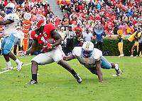 ATHENS, GEORGIA - September 26, 2015: University of Georgia Bulldogs vs. Southern Jaguars at Sanford Stadium. Final score Georgia 48, Southern 6