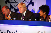 London Mayoral candidate, Boris Johnson, addresses delegates at the FSB national conference in Hammersmith, London.