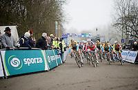 start of the U23 race<br /> <br /> Flandriencross Hamme 2014