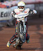 Robin Aspegren of Swindon Robins - Lakeside Hammers vs Swindon Robins at the Arena Essex Raceway, Pufleet - 18/06/12 - MANDATORY CREDIT: Rob Newell/TGSPHOTO - Self billing applies where appropriate - 0845 094 6026 - contact@tgsphoto.co.uk - NO UNPAID USE..