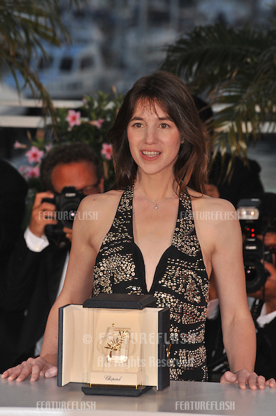 "Charlotte Gainsbourg - Best Actress winner for ""Antichrist"" - at the photocall for the award winners at the 62nd Festival de Cannes..May 24, 2009  Cannes, France.Picture: Paul Smith / Featureflash"