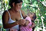 Blanca Aguilar plays with her 4-year old daughter Evelyn Garcia Aguilar during a session of the early intervention program of Piña Palmera, a center for community based rehabilitation for people living with disabilities in Zipolite, a town in Oaxaca, Mexico. The girl is deaf.