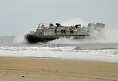 A landing craft air cushioned (LCAC) from the amphibious assault ship USS Kearsarge (LHD 3) comes ashore Monday, February 6, 2012 during an amphibious assault exercise as part of Bold Alligator 2012 at Camp LeJeune, North Carolina. Exercise Bold Alligator 2012, the largest naval amphibious exercise in the past 10 years, represents the Navy and Marine Corps' revitalization of the full range of amphibious operations. The exercise focuses on today's fight with today's forces, while showcasing the advantages of seabasing. This exercise will take place January 30 through February 12, 2012 afloat and ashore in and around Virginia and North Carolina.   .Mandatory Credit: Gregory N. Juday / U.S. Navy via CNP