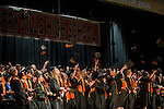 TERRYVILLE, CT- 8 June 2016-060816EC14-  Terryville High School's graduates throw their hats after commencement Wednesday night. Erin Covey Republican-American