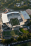 Seattle with aerial view of the newly renovated Husky Stadium
