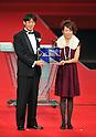 (L to R)  Yuichi Nishimura (Referee), Azusa Iwashimizu (Beleza), DECEMBER 5, 2011 - Football : 2011 J.League Awards at Yokohama Arena, Kanagawa, Japan. (Photo by Atsushi Tomura/AFLO SPORT) [1035]