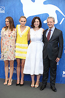 VENICE, ITALY - SEPTEMBER 08: Actress Natalie Portman, actress Lily Rose Depp, director Rebecca Zlotowski and actor Emmanuel Salinger attend a photocall for 'Planetarium' during the 73rd Venice Film Festival at Palazzo del Casino on September 8, 2016 in Venice, Italy.<br /> CAP/GOL<br /> &copy;GOL/Capital Pictures /MediaPunch ***NORTH AND SOUTH AMERICAS ONLY***