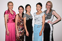 85 Broads members pose in outfits by Yuna Yang, at the close of the 85 Broads Presents Yuna Yang trunk show at Art Gate Gallery on October 24th 2011.