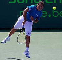 Nicolas ALMAGRO (ESP) against Thomaz BELLUCCI (BRA) in the fourth round of the men's singles. Nicolas Almagro beat Thomaz Bellucci 6-4 7-6..International Tennis - 2010 ATP World Tour - Sony Ericsson Open - Crandon Park Tennis Center - Key Biscayne - Miami - Florida - USA - Tue 30th Mar 2010..© Frey - Amn Images, Level 1, Barry House, 20-22 Worple Road, London, SW19 4DH, UK .Tel - +44 20 8947 0100.Fax -+44 20 8947 0117