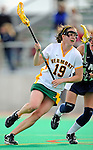 9 April 2008: University of Vermont Catamounts' Midfielder Sara Buxton, a Sophomore from Northfield, IL, in action against the University of New Hampshire Wildcats at Moulton Winder Field, in Burlington, Vermont. The Catamounts rallied to defeat the visiting Wildcats 9-8 in America East divisional play...Mandatory Photo Credit: Ed Wolfstein Photo