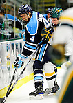 30 January 2010: University of Maine Black Bears' defenseman Mike Banwell, a Junior from Scarborough, Ontario, in action against the University of Vermont Catamounts at Gutterson Fieldhouse in Burlington, Vermont. The Black Bears and the Catamounts played to a 4-4 tie in the second game of their America East weekend series. Mandatory Credit: Ed Wolfstein Photo