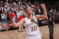STANFORD, CA - NOVEMBER 23:  Hannah Donaghe of the Stanford Cardinal during Stanford's 81-47 win over Rutgers on November 23, 2008 at Maples Pavilion in Stanford, California.