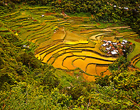 Ancient Rice Terraces at Bangaan Village, Banaue World Heritage Site, Ifugao, Philippines