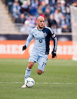 Aurelien Collin.  Sporting Kansas City defeated Philadelphia Union, 3-1. at PPL Park in Chester, PA.