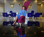 River City Bank President and CEO, Jeanne Reaves, has designed several interiors of their new bank branches, including this art deco style located in Granite Bay, Ca.