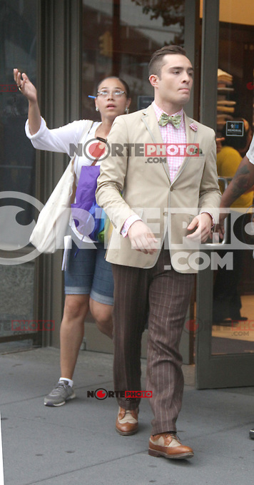 August 10, 2012  Ed Westwick,   shooting on location for  Gossip Girl in New York City.Credit:&copy; RW/MediaPunch Inc. /NortePhoto.com*<br />