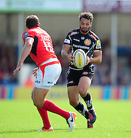 Phil Dollman of Exeter Chiefs in possession. Aviva Premiership match, between Exeter Chiefs and Saracens on September 11, 2016 at Sandy Park in Exeter, England. Photo by: Patrick Khachfe / JMP