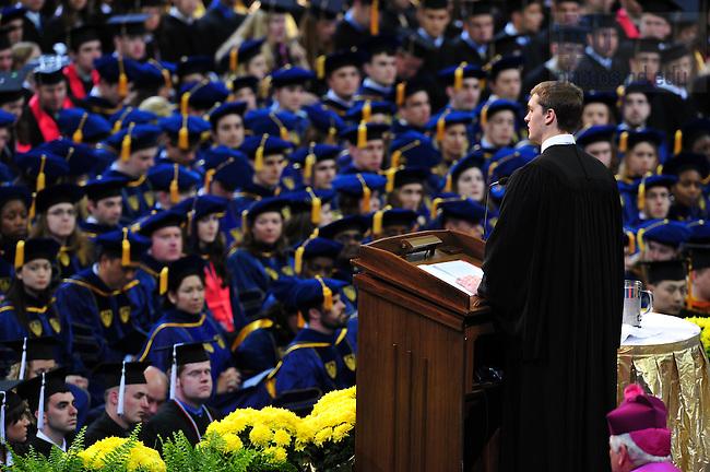 Valedictorian Joshua Hammack addresses the class of 2008 at Commencement...Photo by Matt Cashore/University of Notre Dame