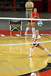 18 AUG 2007: Kasye Mollerus practices digs during pre-game warm-ups. The Illinois State Redbirds, picked for 5th in the pre-season Missouri Valley Conference coaches poll, prepare for the beginning of the season during the annual Red/White inter-squad scrimmage at Redbird Arena in Normal Illinois.