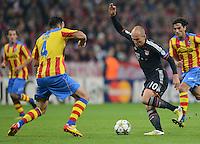 FUSSBALL   CHAMPIONS LEAGUE   SAISON 2012/2013   GRUPPENPHASE   FC Bayern Muenchen - FC Valencia                            19.09.2012 Adil Rami (li, Valencia CF) gegen Arjen Robben (FC Bayern Muenchen)