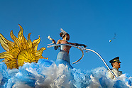 A Colombian girl throws roses from the top of the allegorical float during the Carnival in Barranquilla, Colombia, 25 February 2006. The Carnival of Barranquilla is a unique festivity which takes place every year during February or March on the Caribbean coast of Colombia. A colourful mixture of the ancient African tribal dances and the Spanish music influence - cumbia, porro, mapale, puya, congo among others - hit for five days nearly all central streets of Barranquilla. Those traditions kept for centuries by Black African slaves have had the great impact on Colombian culture and Colombian society. In November 2003 the Carnival of Barranquilla was proclaimed as the Masterpiece of the Oral and Intangible Heritage of Humanity by UNESCO.