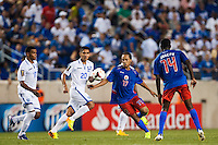 Herold Junior Charles (17) of Haiti Honduras defeated Haiti 2-0 during a CONCACAF Gold Cup group B match at Red Bull Arena in Harrison, NJ, on July 8, 2013.