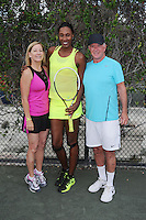 BOCA RATON - NOVEMBER 18: Chris Evert, Lisa Leslie and Alan Thicke attend the Chris Evert-Raymond James Pro Celebrity Tennis Classic held at the Boca Raton Resort & Club on November 18, 2016 in Boca Raton, Florida. Credit: mpi04/MediaPunch