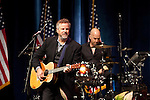 Robert Earl Keen plays at a campaign stop for President Barack Obama at the Austin City Limits Moody Theater in Austin, Texas.