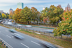 Traffic on Storrow Drive, Boston, Massachusetts, USA