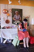 Beccie Leathley is pictured at The 2012 Historic Houses Trust of NSW annual Fifties Fair at Rose Seidler House, Sydney. Picture James Horan