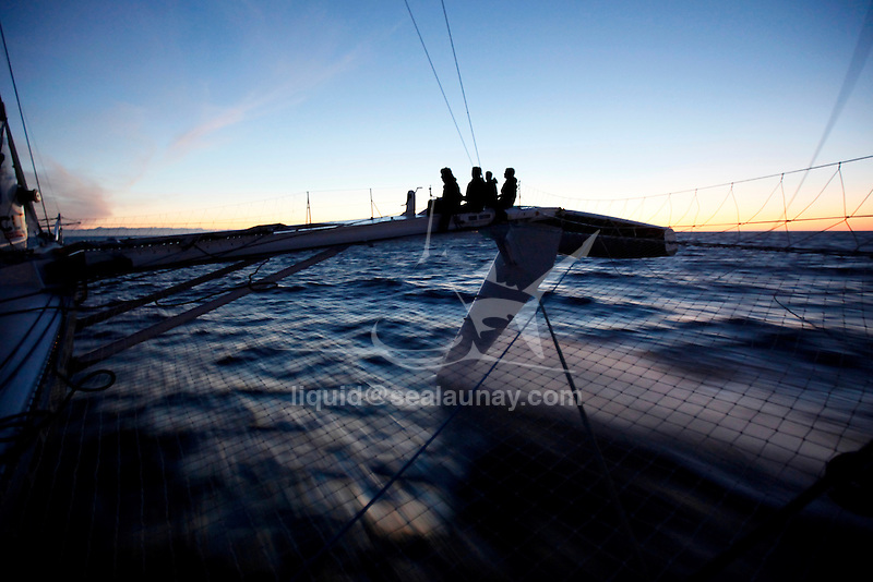 Alain Thebault on trials with the Hydroptere in Los Angeles in preparation to beat the Pacific crossing record between Los Angeles and Honolulu.