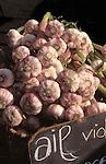 Garlic on market stall, France