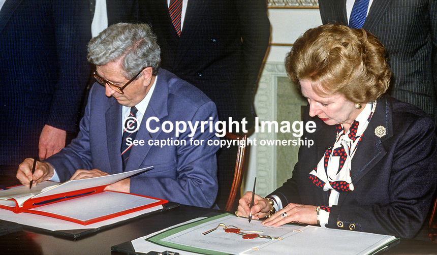 anglo irish agreement Called the anglo-irish agreement it was signed in belfast on 15 november 1985 the irish government narrowly voted for it on the 21 november and the uk government approved it by a huge majority on 27 november.