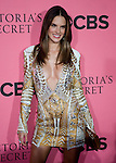 Victoria's Secret Angel Alessandra Ambrosio poses for photos on the Pink Carpet before Tuesday's screening party for the 2011 Victoria's Secret Fashion Show.