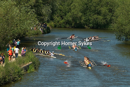Students. Oxford University Rowing Clubs Eights Week. Rowing races on the River Isis Oxford. (actually the River Thames). Summer Eights is a &quot;bumps race&quot; intercollegiate rowing regatta takes place end of May in Trinity Term.