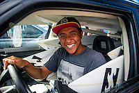 North Shore, Oahu, Hawaii (Sunday, Dec. 1, 2013) .Seth Moniz (HAW) -- Hawaii's own Ezekiel Lau, 20, posted the largest victory of his young career today by winning the prestigious 39th annual VANS World Cup of Surfing at Sunset Beach - the second stop of the Vans Triple Crown of Surfing. Lau's win earned him $40,000 and sees him close the year at 35th position on the ASP world rankings. While that doesn't qualify him for next year's elite World Championship Tour, it does guarantee him an excellent seed. He also holds a shared lead on the coveted Vans Triple Crown series rankings with Michel Bourez (PYF) heading into the third and final event of the series - the Billabong Pipe Masters, where he is a local wildard entry.<br /> <br /> Lau made a late tube-riding charge from behind to turn the tables on Damien Hobgood (USA) and Raoni Monteiro (BRA) in the latter half of the 30-minute final. Fourth place was Frederico Morais, (PRT), who was announced the JN Chevrolet Rookie of the 2013 Vans Triple Crown. Lau went on the hunt and found his way onto the biggest waves of the final that also offered high-scoring tube riding potential. His final scoreline was 15.5 points out of 20 (8.67 and 6.83 point rides). Hobgood was second on 14.3; Monteiro third with 12.33, and Morais on 7.16.Photo: joliphotos.com