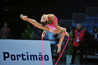 Arina Charopa of Belarus (junior) performs at 2010 World Cup at Portimao, Portugal on March 13, 2010.  (Photo by Tom Theobald).