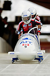 18 November 2005: Lesa Mayes-Stringer pilots Canada 2 to a 16th place finish at the 2005 FIBT AIT World Cup Women's Bobsleigh Tour at the Verizon Sports Complex, in Lake Placid, NY. Mandatory Photo Credit: Ed Wolfstein.