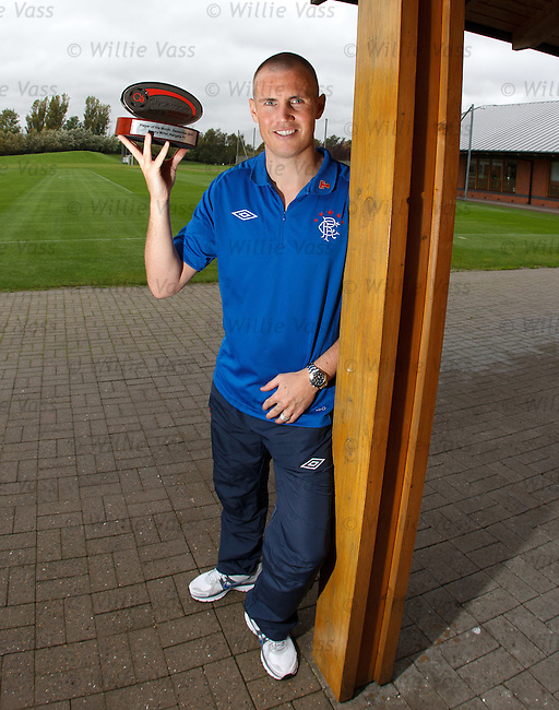 Two in a row.. Kenny Miller picks up the Clydesdale Bank Player of the Month award for September