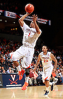 CHARLOTTESVILLE, VA- DECEMBER 6: Jontel Evans #1 of the Virginia Cavaliers shoots the ball during the game on December 6, 2011 against the George Mason Patriots at the John Paul Jones Arena in Charlottesville, Virginia. Virginia defeated George Mason 68-48. (Photo by Andrew Shurtleff/Getty Images) *** Local Caption *** Jontel Evans