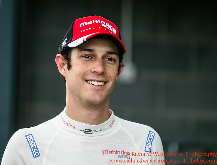 21 Bruno Senna (BRA)  Mahindra Racing Formula E Team FormulaE Test Day Donnington Park  10th August 2015<br /> <br /> Photo:  - Richard Washbrooke Photography